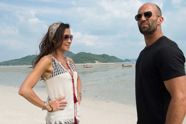 Mae (Michelle Yeoh) and Arthur Bishop (Jason Statham)
